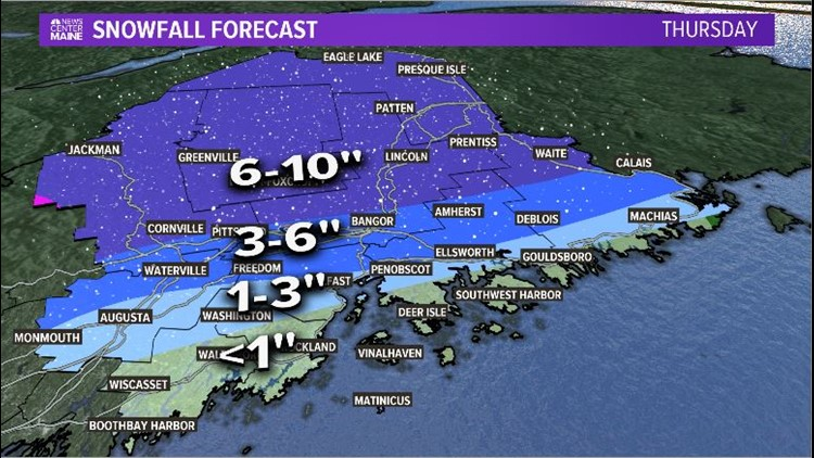 Forecast Zoomed Snow East