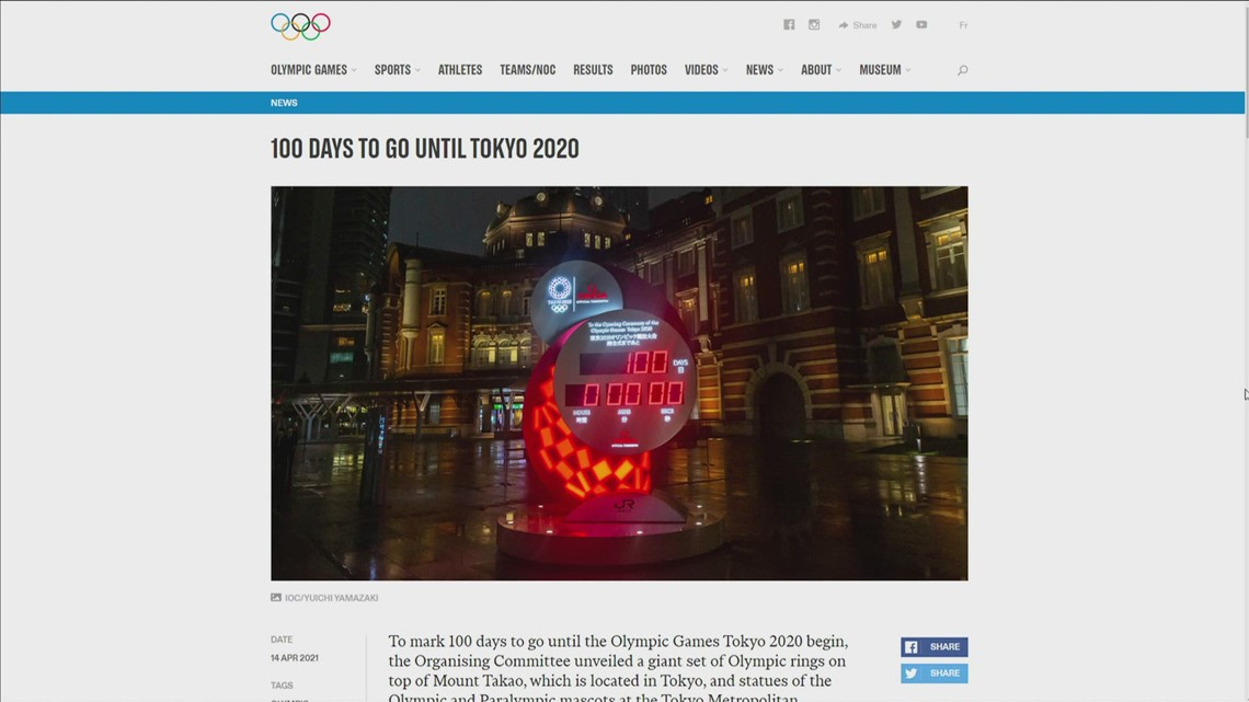 100 days until Tokyo Olympics