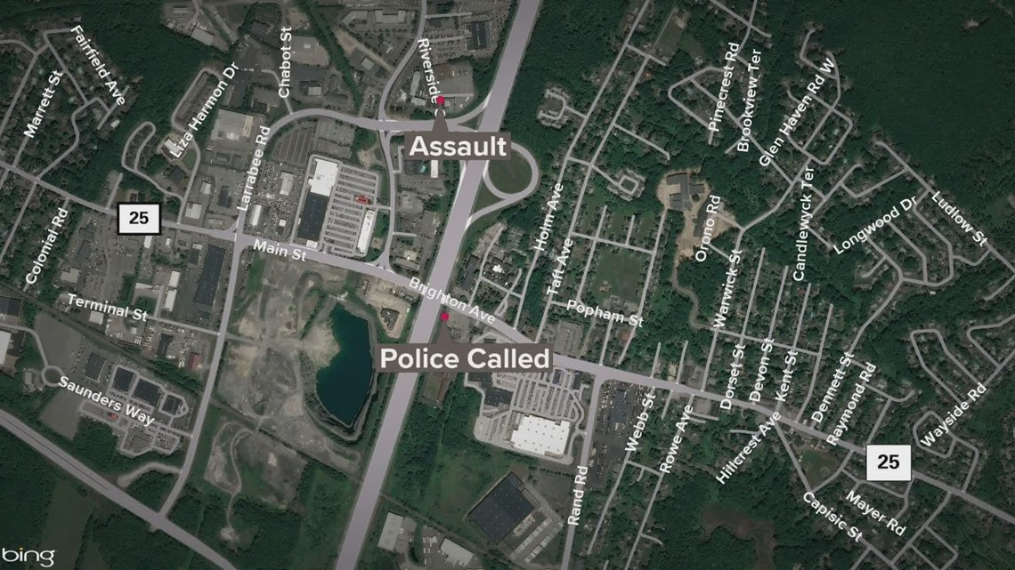 A woman was assaulted by a person armed with a firearm in Portland