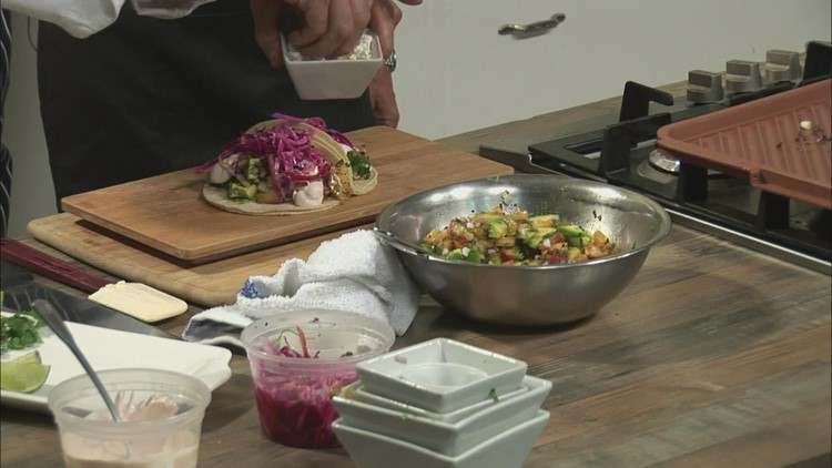 Light, fresh & delicious; fish tacos are the perfect summer meal