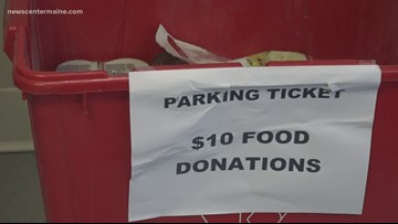 You can pay your Old Town parking ticket with food donations