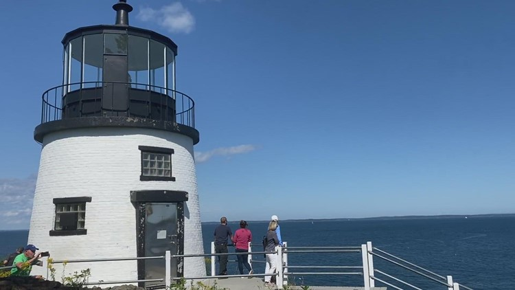 Video with the pan from owls head lighthouse