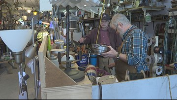 Repairs and inventions keep South Portland lamp shop open for business
