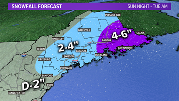 Snow returns, Monday, with slick travel likely | Maine Weather Blog