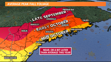Fall foliage forecast: When to expect the best color