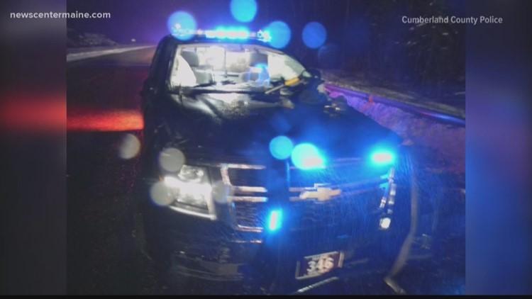 Police cruiser totaled