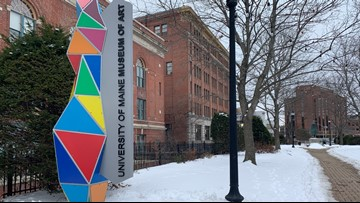 UMaine Museum of Art in Bangor unveils new sculpture and sign