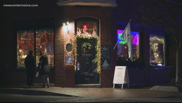 Vena's Fizz House on Fore Street in Portland has been consumed by Christmas