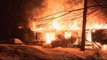 Dog alerts owner to house fire in Baldwin, both make it out safely