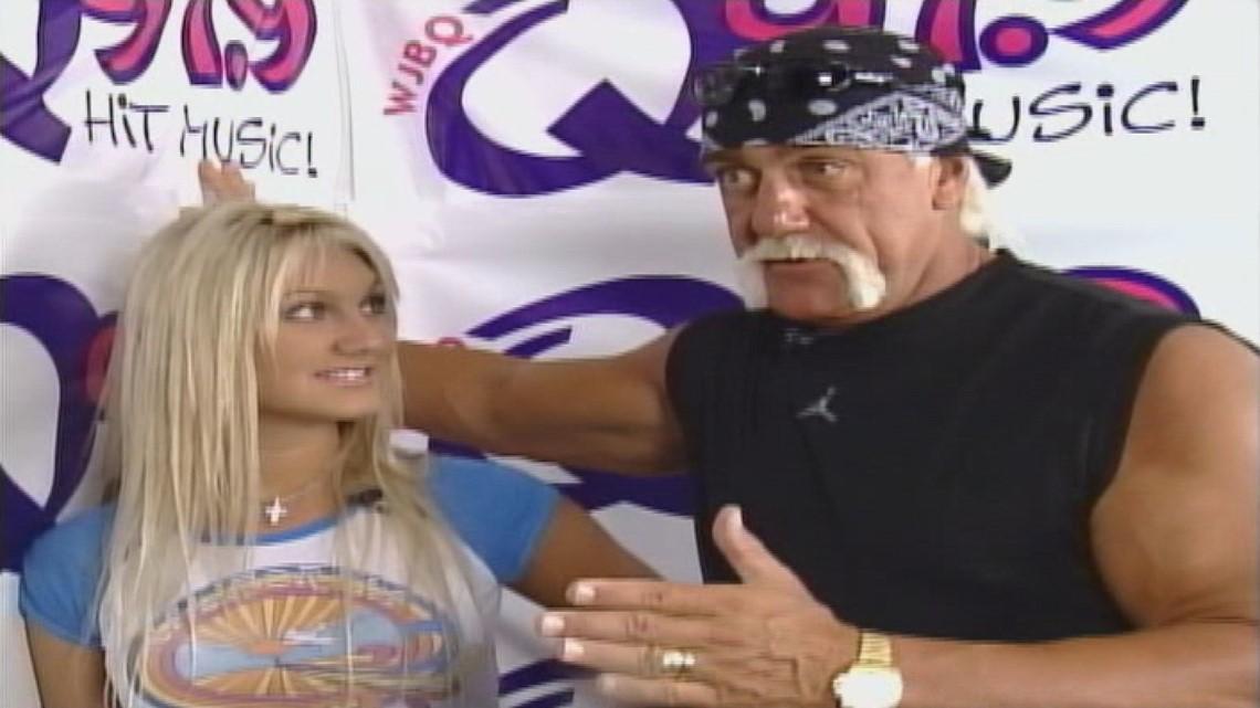 Hulk Hogan brings the muscle while Brooke Hogan brings the music to Funtown-Splashtown