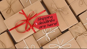 Holiday shipping deadlines are here