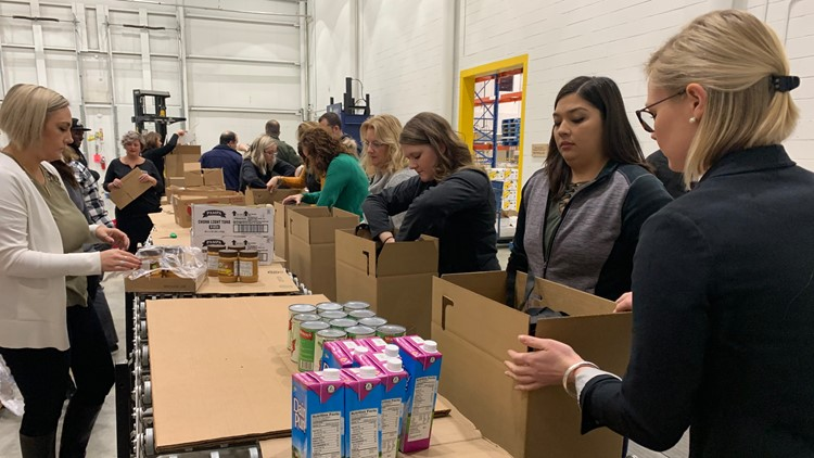 'Ending Hunger Walking and Awareness Tour' stopped at Good Shepherd Food Bank in Hampden