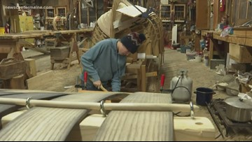 First toboggan building workshop held at the Maine Maritime Museum