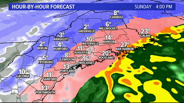 Storm starts to slow down in parts of Maine