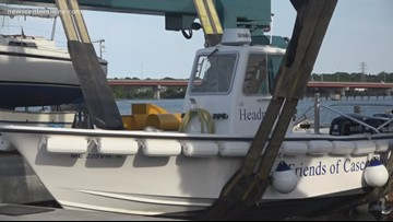 Pump-out boat skims sewage out of Casco Bay