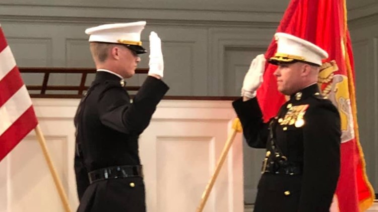 Waterville firefighter commissioned to Marines on Memorial Day weekend