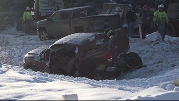 RAW I-95 Maine crash video