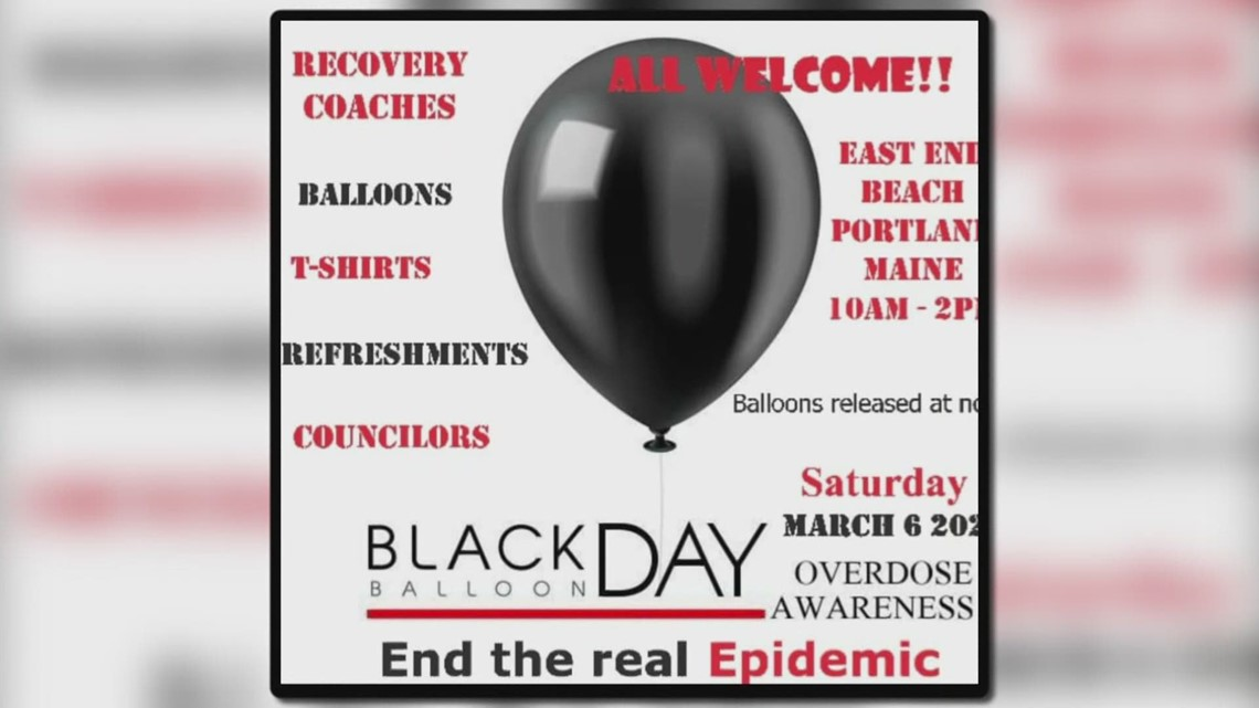 Black Balloon Day event to honor those lost to overdose deaths in Maine