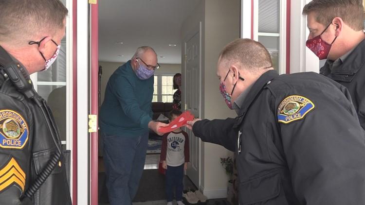 Scarborough police deliver valentines to seniors