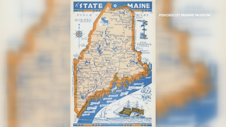 NEWS CENTER Maine reporter gets a dose of Maine history from hand-me-down map decoration