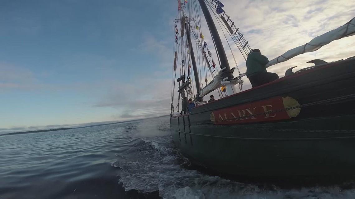 Maine Maritime Museum's historic 'Mary E' schooner