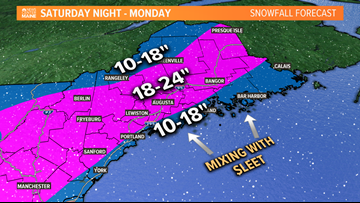 You ready for a couple feet of snow? Some areas might be in the bullseye