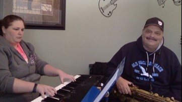 """Old Orchard Beach father-daughter duo's """"Amazing Grace"""" cover"""