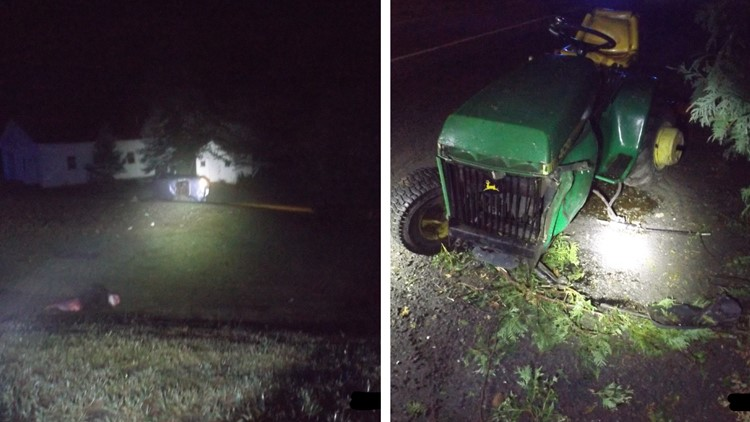 Madawaska woman seriously injured, freed by emergency responders after hitting tractor and rolling car in Frenchville