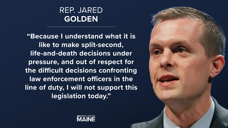 Maine Rep. Jared Golden votes against House police reform bill