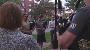 Portland bagpipe band to compete at world championships in Scotland
