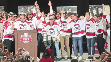 Charlotte Checkers Calder Cup party