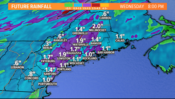 Another storm drenches Maine