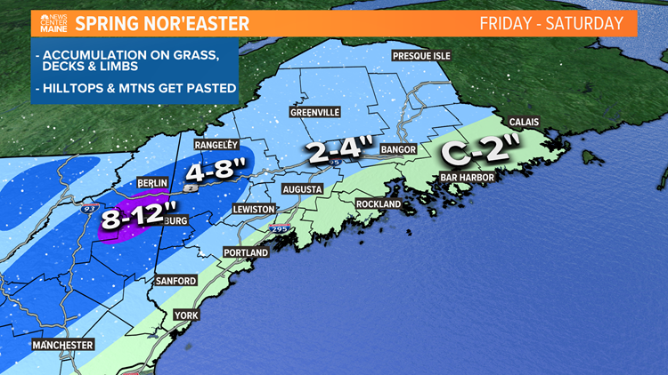 April snow on the way for Maine this weekend