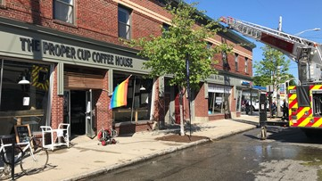 Crews respond to small fire inside of the Proper Cup Coffee House in Portland