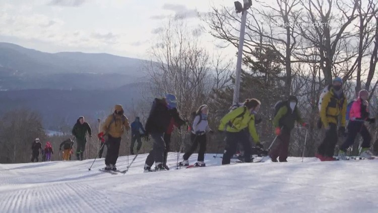 Mainers flock to the mountains for a new type of hybrid skiing