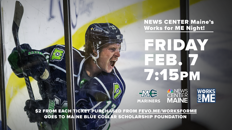 NEWS CENTER Maine's Works for ME night at The Maine Mariners hockey game
