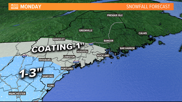 Light snow returns to parts of the area, Monday