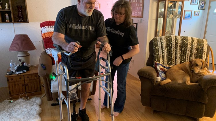 Accident survivor faces a long road to recovery
