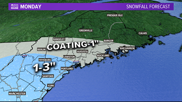Light snow Monday, next system Thursday