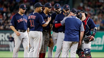 As bad as Boston was to give up 10 runs, the Texas pitchers were worse