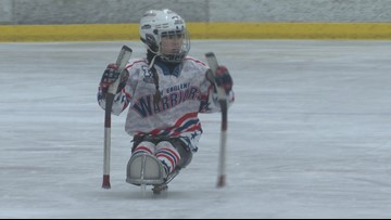 Double amputee teen finds her place on sled hockey team