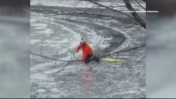 Man attempts to hack Westbrook ice disk