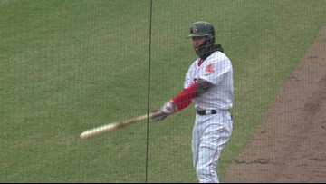 Pedroia highlights from Sea Dogs rehab on May 2, 2019