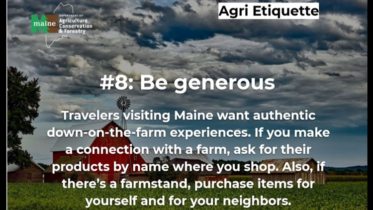 How to be a guest who Maine farms will want to see again and again