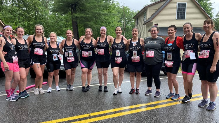 Despite pouring rain, Maine family takes on Tri for a Cure