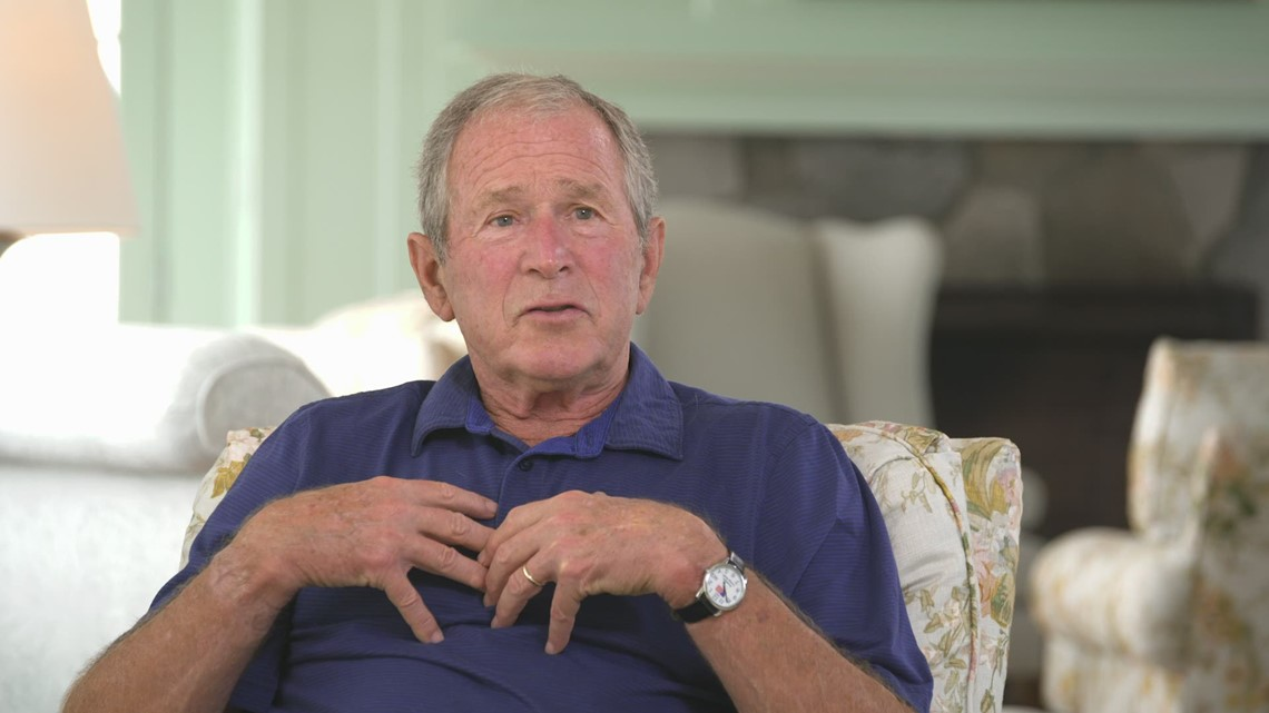 Former President George W. Bush speaks on his experience with Maine Medical Center