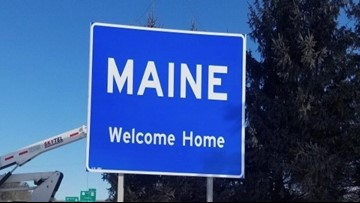 'Welcome Home' sign replaces decades-old 'The Way Life Should Be' on Maine Turnpike