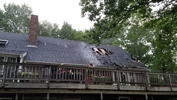 Lightning strike likely caused house fire in Camden, firefighters say