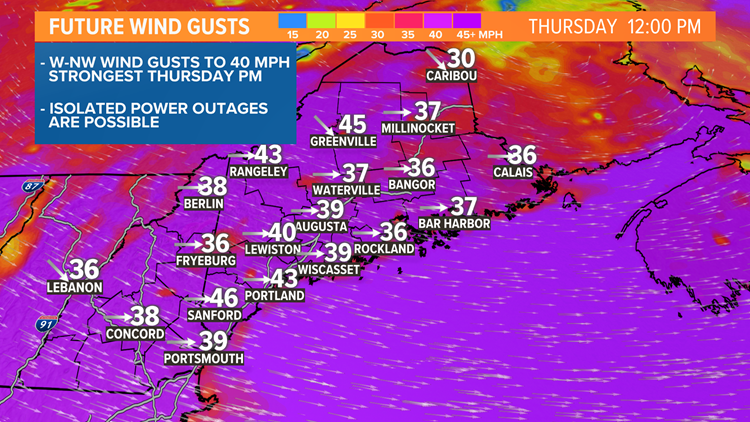 Windy and chilly Thursday, unsettled pattern continues