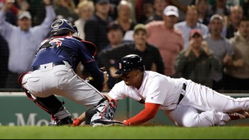 Devers fatally overreaches by trying to score from first